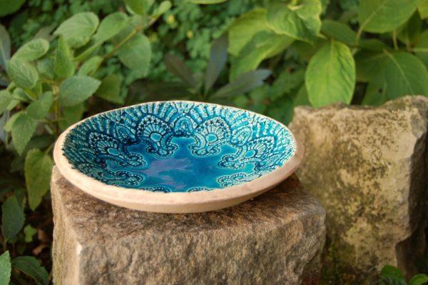 vogeltränke aus stein keramik